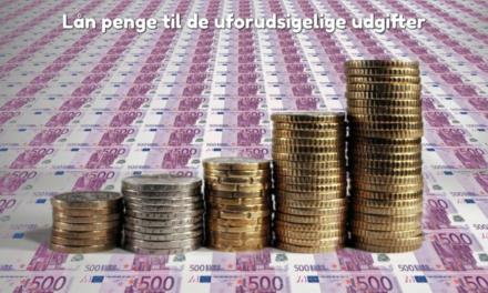 Lån penge til de uforudsigelige udgifter
